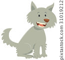 wolf cartoon character 31019212