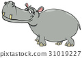 hippopotamus cartoon character 31019227