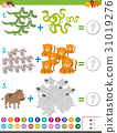 addition game with animals 31019276