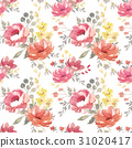 Watercolor floral pattern 31020417