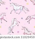 Watercolor unicorn pattern 31020450