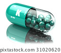 Potassium K element pill. Dietary supplements 31020620