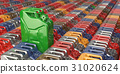 Green jerrycan. Bio fuel, energy conservation  31020624