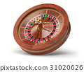 Casino roulette wheel isolated on white background 31020626