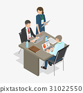 Workers Do Job. Business-themed Illustration. 31022550