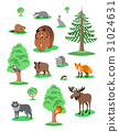 Cute forest animals kids cartoon illustration 31024631
