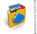 Cloud computing and media storage concept 31025258