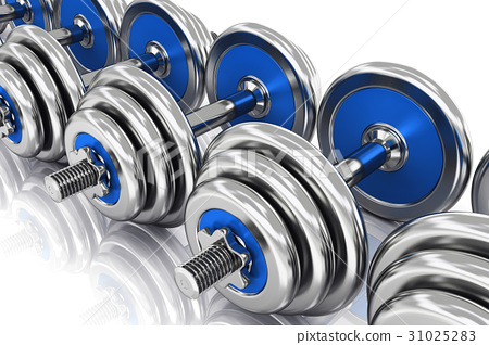 Row of dumbbells 31025283