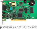 Green PCI card 31025329