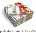Stacks of 500 Swedish krona banknotes 31025556