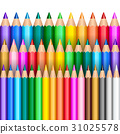 Rainbow pencil background 31025578