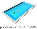 Blue swimming pool 31025599