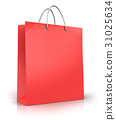 Red paper shopping bag 31025634