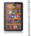 Bookshelf in tablet computer 31025782