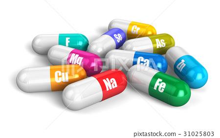 Color vitamin pills 31025803