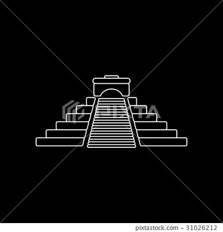Aztec pyramid icon 31026212