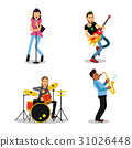 Musician characters with different musical 31026448