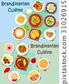 scandinavian, cuisine, vector 31026915