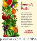 水果 熱帶 海報 31027058