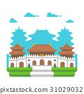 Flat design Jingan temple Shanghai 31029032