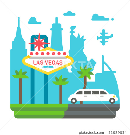 Flat design Las Vegas 31029034