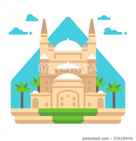 Flat design Mosque of Muhammad Ali 31029039