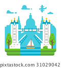 Flat design Tower Bridge London 31029042