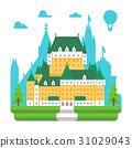 Flat design Frontenac chateau Quebec 31029043