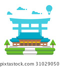 Flat design Meiji shrine Tokyo 31029050