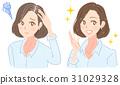 gray hair, white hair, hair care 31029328