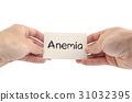 Anemia text concept 31032395