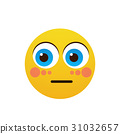 Yellow Cartoon Face Shocked People Emotion Icon 31032657