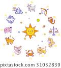 星座 占星 白色背景 31032839