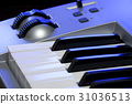 Synthesizer keyboard and controls 31036513