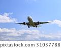 飞机 蓝天 蓝蓝的天空 31037788
