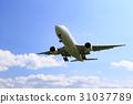 飞机 蓝天 蓝蓝的天空 31037789