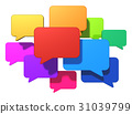 bubble speech social 31039799