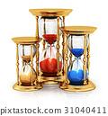 Vintage golden hourglasses 31040411