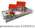 Real estate financial concept 31040413