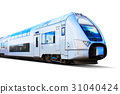 Modern high speed train isolated on white 31040424