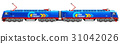 Modern heavy freight electric locomotive 31042026