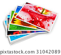 Stack of photo cards 31042089