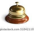Golden reception bell 31042110