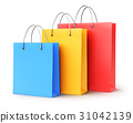 Group of color paper shopping bags 31042139