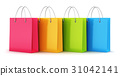 Group of color paper shopping bags 31042141