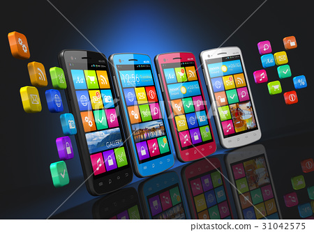Mobile communications social networking concept 31042575