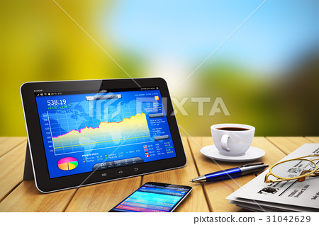 Tablet computer, smartphone and business objects 31042629