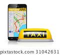 Internet taxi service concept 31042631