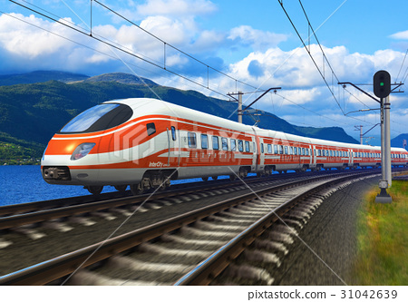 High speed train 31042639