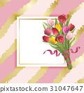 flower, tulip, vector 31047647